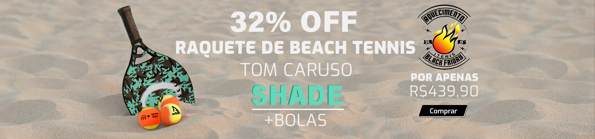 Raquete de Beach Tennis Tom Caruso Shade