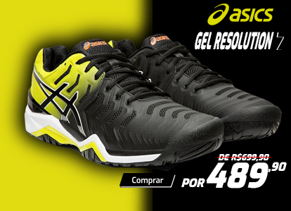 Tênis Asics Gel Resolution 7 - Preto com Amarelo