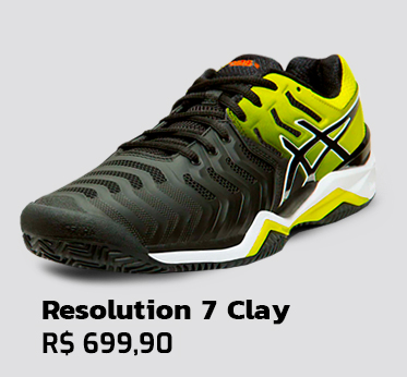 Tênis Asics Gel Resolution 7 Clay - Preto com Amarelo
