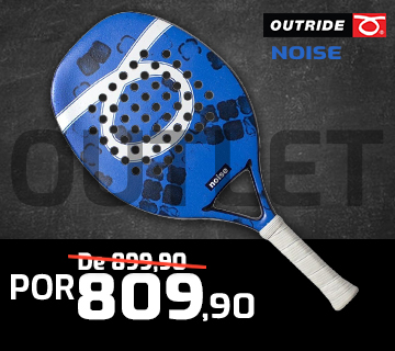 Raquete de Beach Tennis Outride Noise Blue 2020