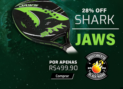 RAQUETE DE BEACH TENNIS SHARK JAWS - 49