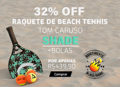 RAQUETE DE BEACH TENNIS TOM CARUSO SHADE - 50 - 2018 +BOLAS