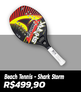 Raquete de Beach Tennis Shark Storm 50 - 2020